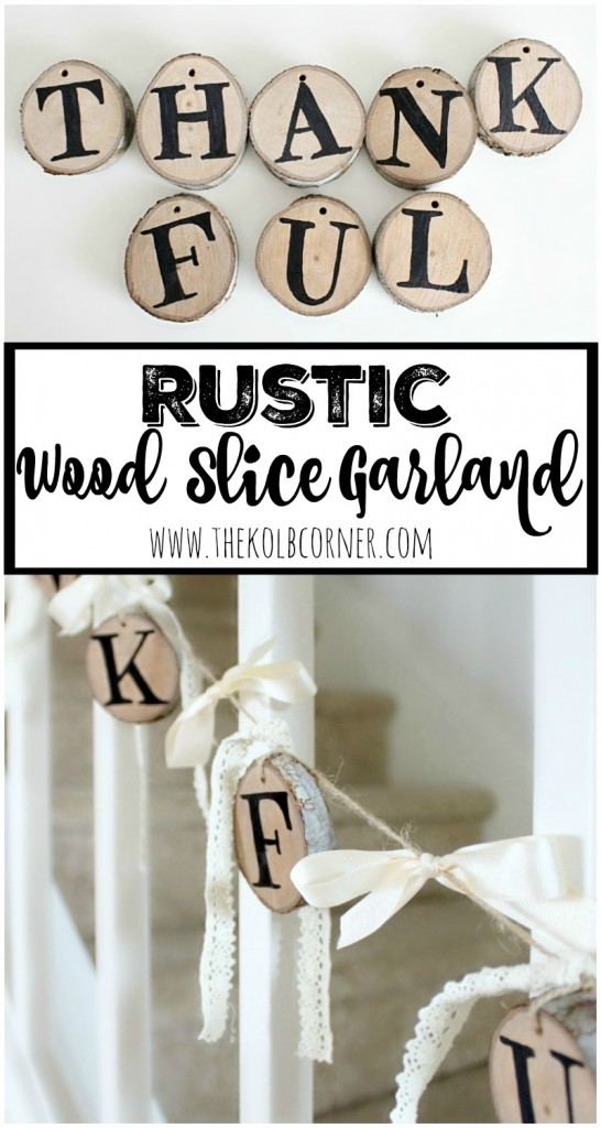 Rustic Wood slice garland