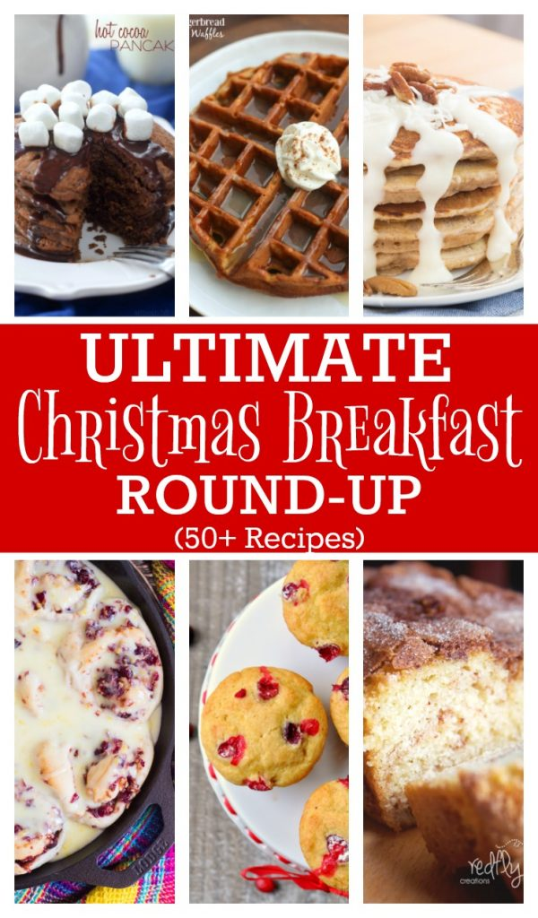 Ultimate Christmas Breakfast Round-up with over 50 recipe ideas.