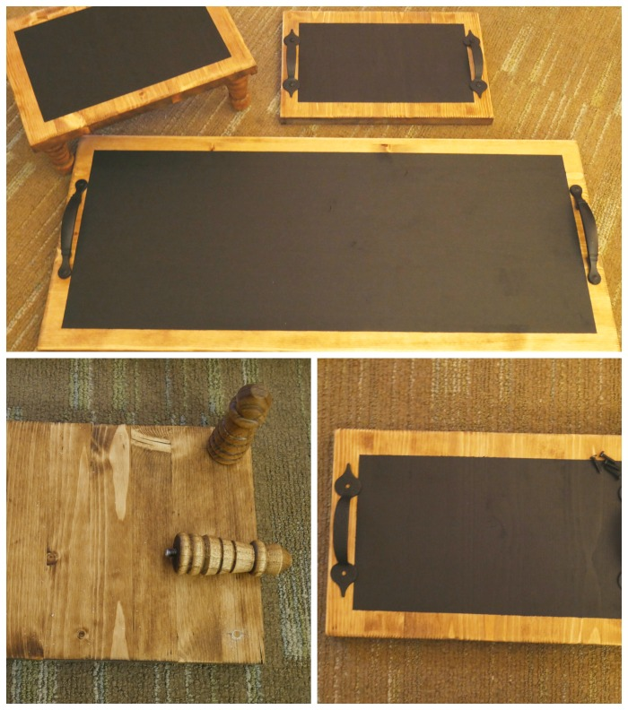 DIY Chalkboard Serving Tray Handles