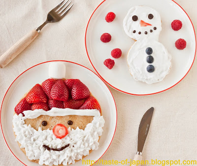 Santa and Snowman Pancakes