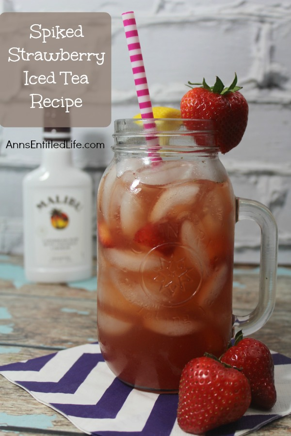 Spiked Strawberry Ice Tea