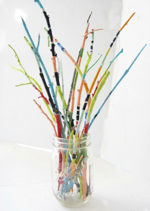 Painted Twig Bouquet