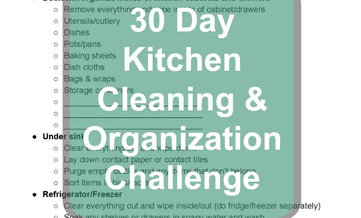 The 30 Day Kitchen Cleaning & Organization Challenge with Tips