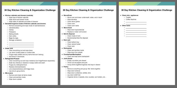 30 Day Kitchen Cleaning & Organization Challenge