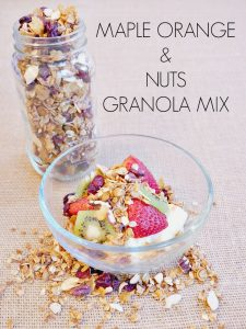 Maple Orange Granola Mix