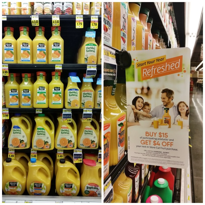 minute maid orange juice shelf