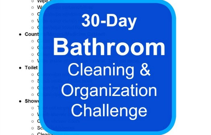 30 Day Bathroom Cleaning & Organization Challenge