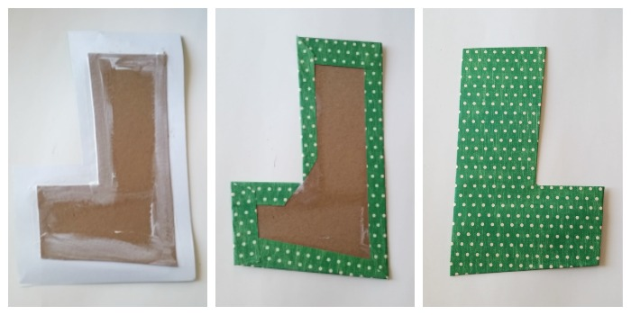 DIY St. Patrick's Day Word Art Papering