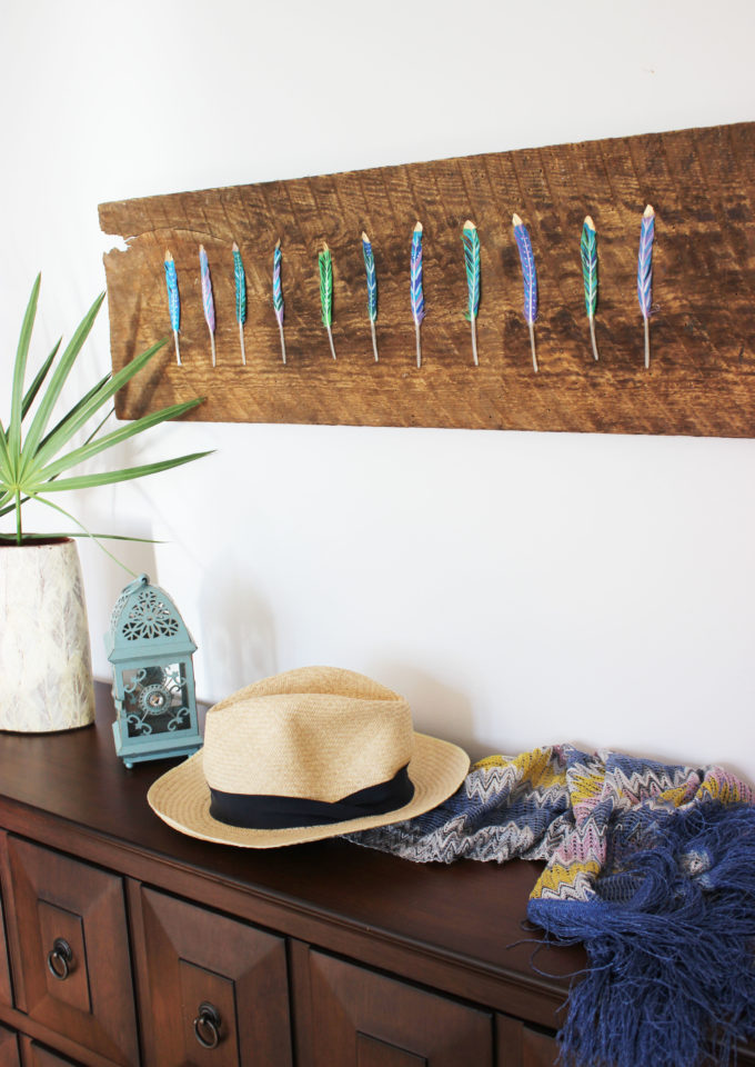 DIY Painted Feather Art