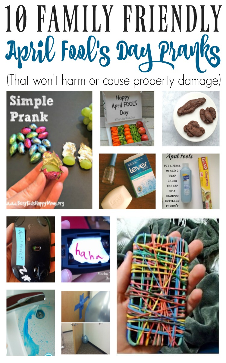 10 Family Friendly April Fool's Day Pranks