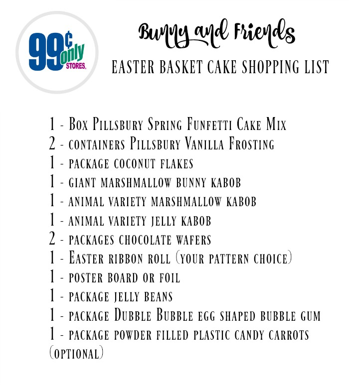 Bunny and Friends Easter Basket Shopping List