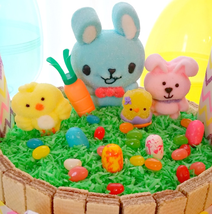 Bunny and Friends Easter Basket Cake
