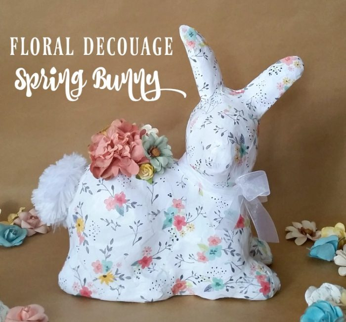 Floral Decoupage Spring Bunny