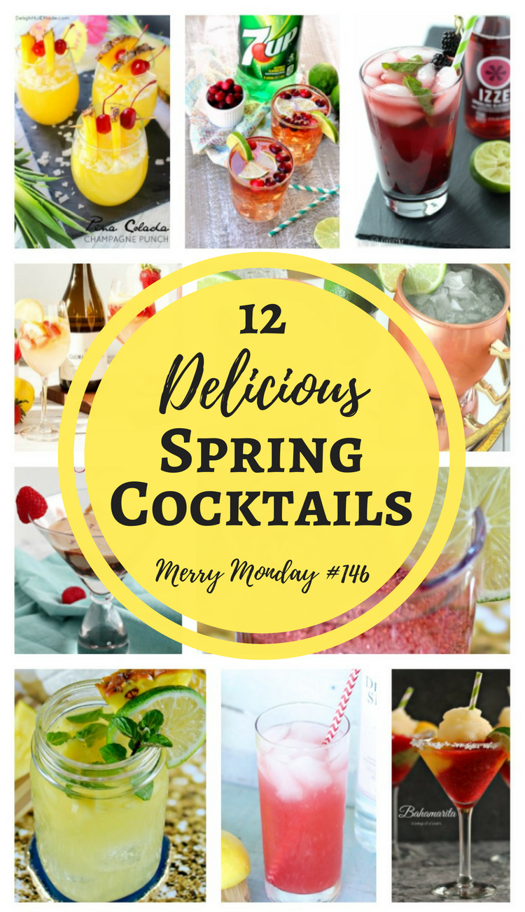 12 Delicious Spring Cocktails that are perfect at the end of the day or to serve at spring parties.