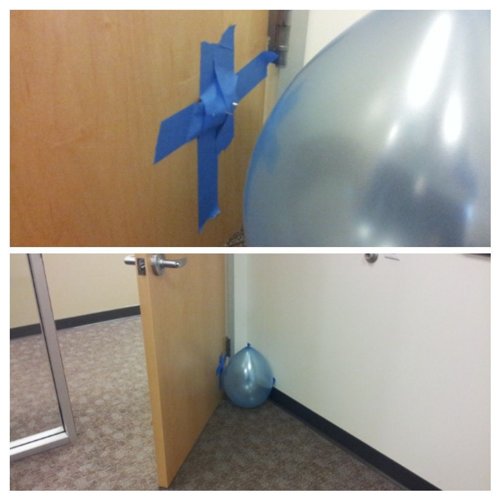 Balloon behind door