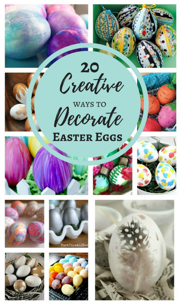 Not your typical egg dyeing - 20 Creative Ways to Decorate Easter Eggs