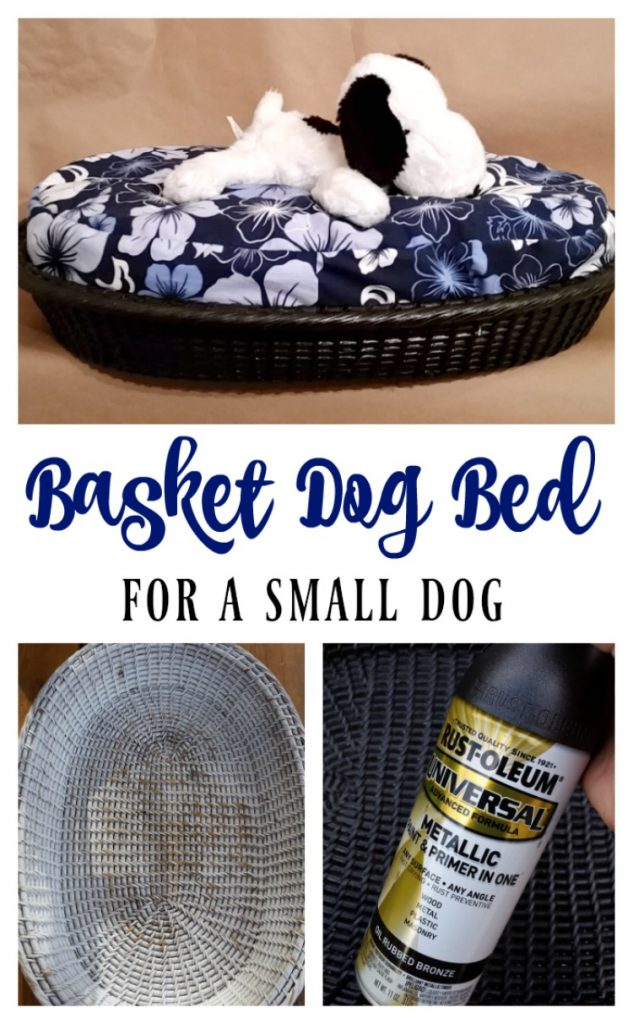 Basket Dog Bed for a Small Dog