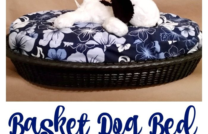 DIY Basket Dog Bed for a Small Dog