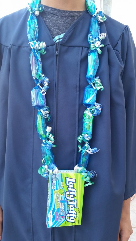 Candy lei with giant candy box pendant