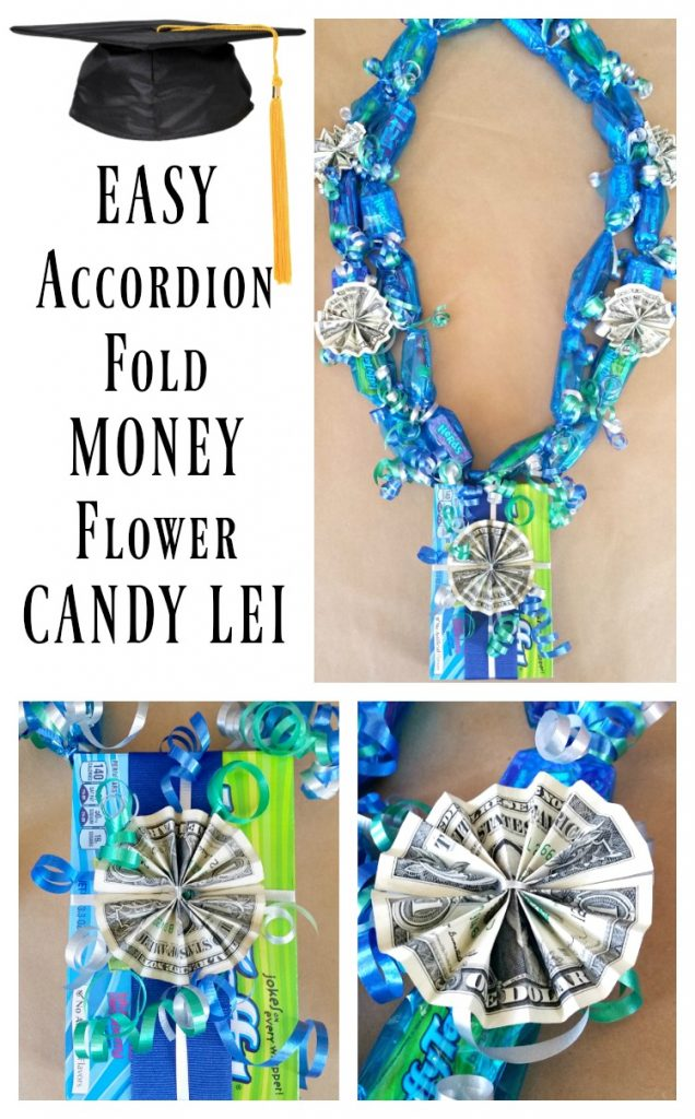 How to make an Easy Accordion Fold Money Candy Lei