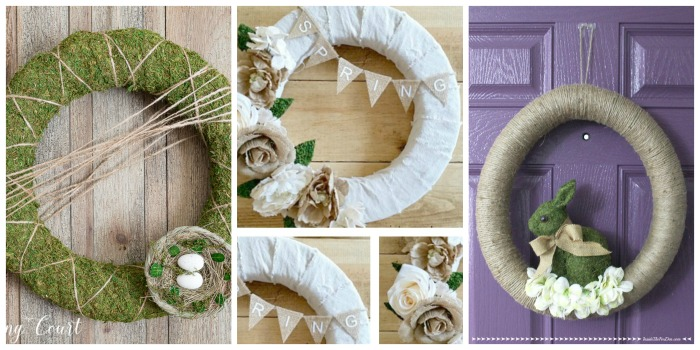 Simple DIY Spring Wreaths 2