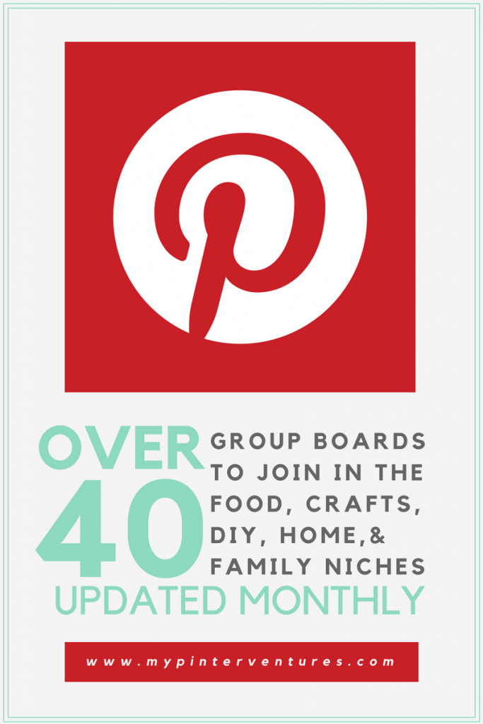 Power of Pinterest Group Boards - 40+ boards open to contributors