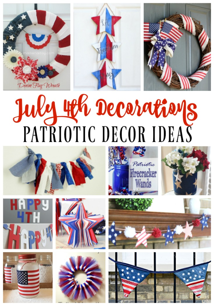 July 4th Decoration Ideas Red White Amp Blue Patriotic Decor