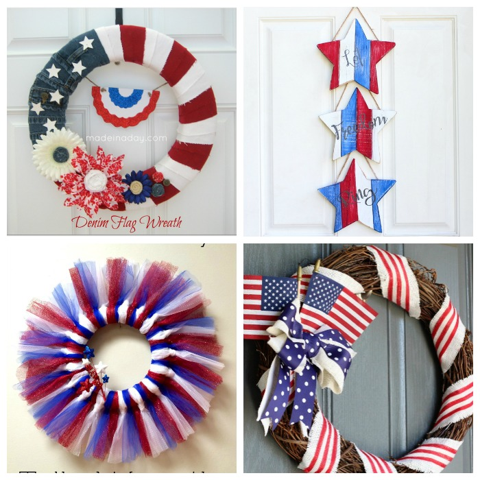 July 4th decoration ideas red white blue patriotic decor for Decoration 4 july