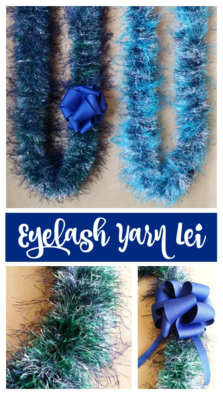 Easiest Eyelash Yarn Lei