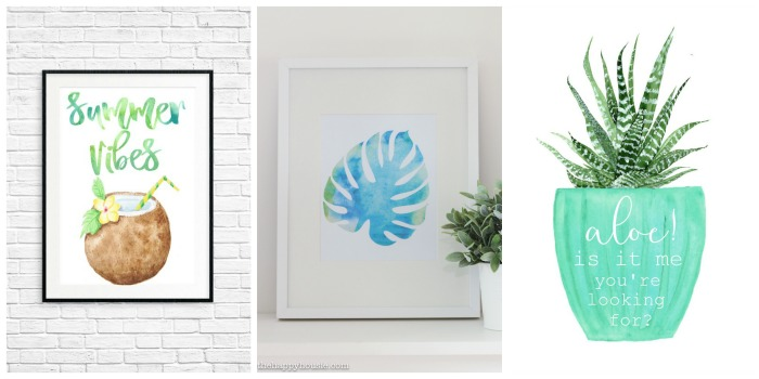 15 Awesome DIY Tropical Ideas - free printables to decorate for the summer!