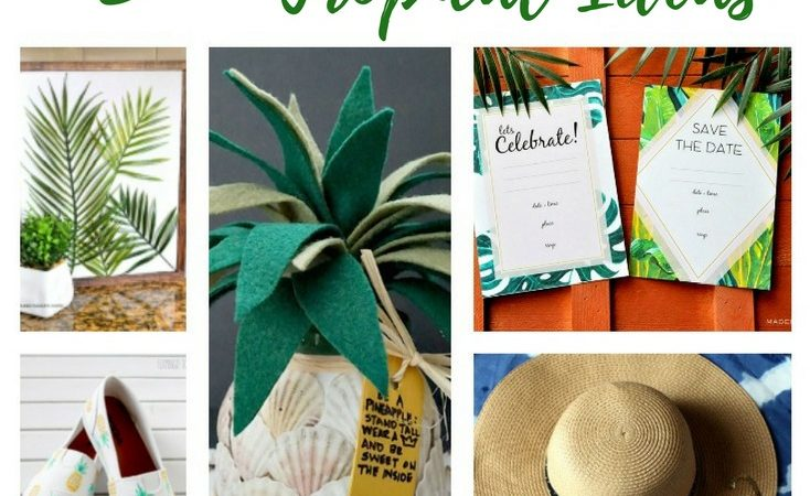 15+ Awesome DIY Tropical Ideas – Merry Monday Link Party #160