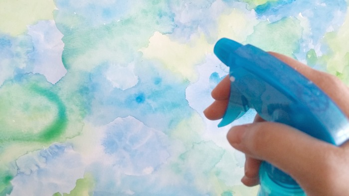 Summer Sea Watecolor Background Art spray