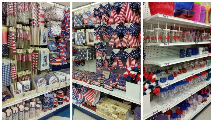 99 Cents Only Stores July 4h decorations