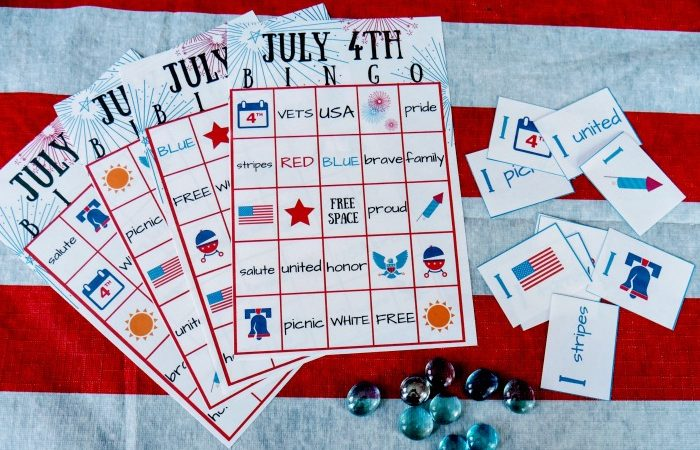 FREE July 4th BINGO Printable – Patriotic Family Party Game