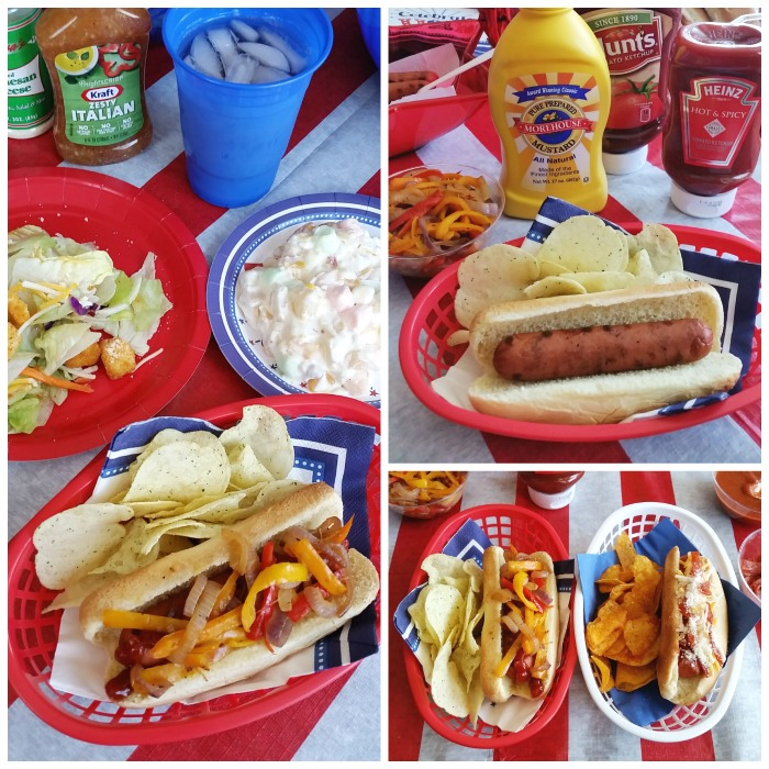 July 4th Self-serve hot dog party