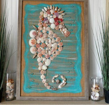DIY Giant Seashell Seahorse