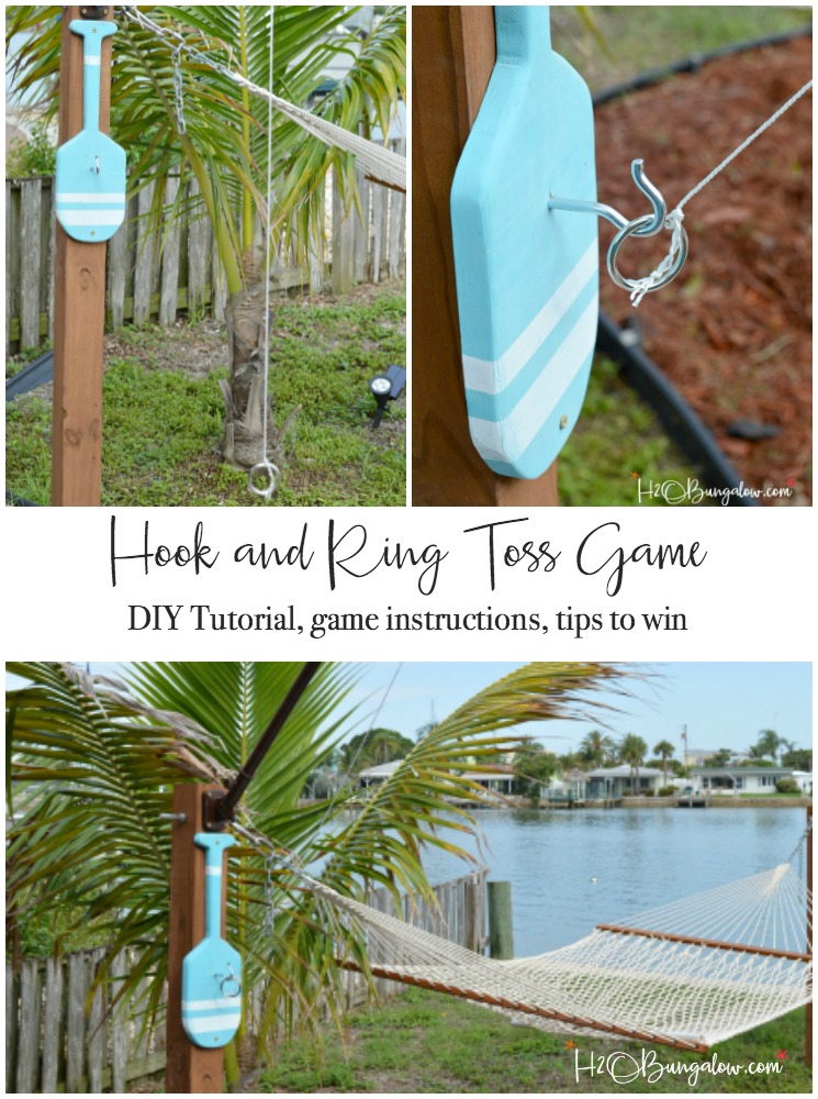 Hook and Ring Toss Game
