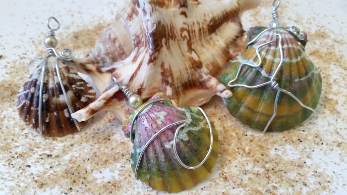 How to paint sea shells to look like imitation Hawaii sunrise shells