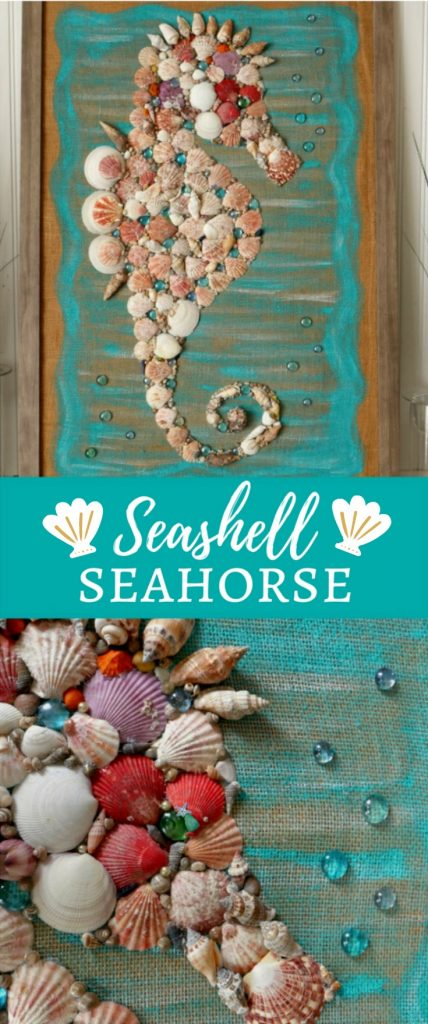 DIY Giant Seashell Seahorse Wall Art
