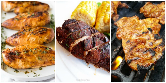 Grilled Chicken Recipes 2 - maple dijon chicken, mocha rubbed chicken, and chipotle marinated chicken.