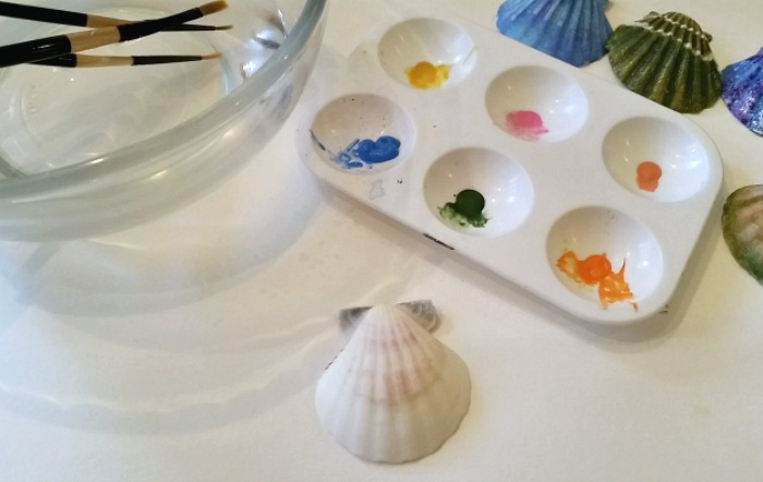 How to Paint Sea Shells - DIY Painted Sea Shells to look like Imitation Hawaii Sunrise Shell