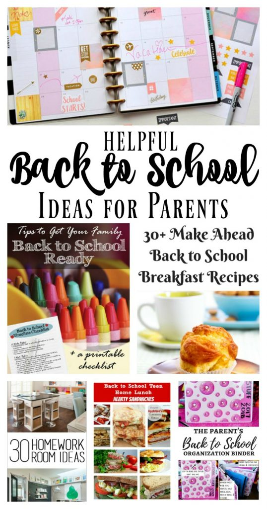Helpful Back to School Ideas for Parents