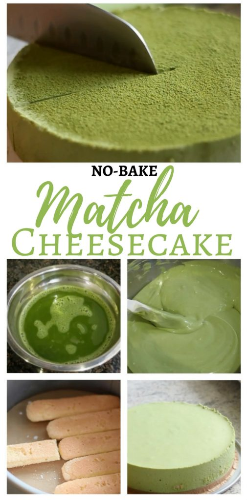 Easy No-Bake Matcha Cheesecake