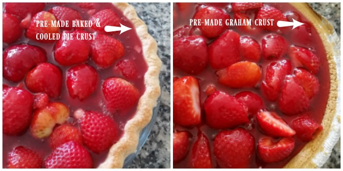 Fresh strawberry pie recipe crust options
