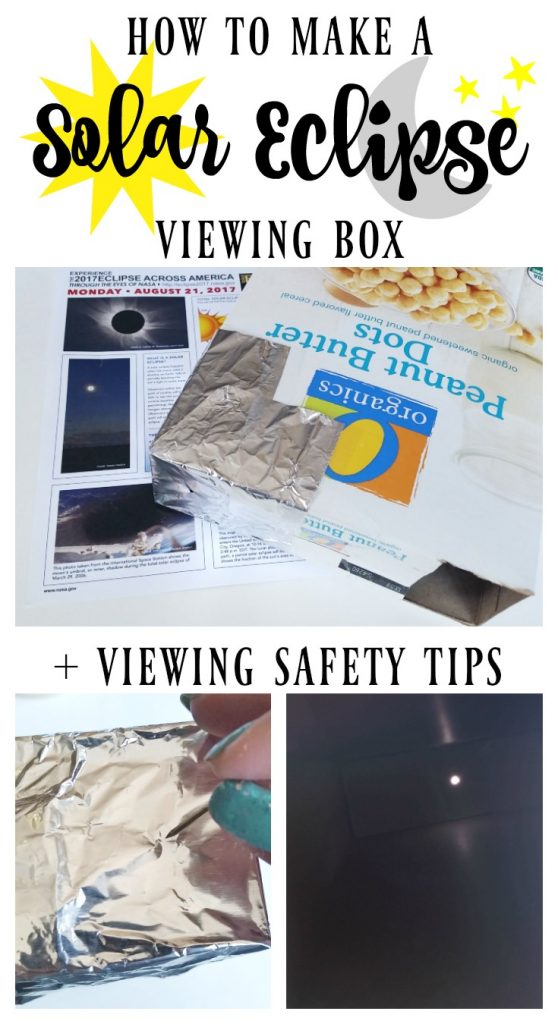 How to make a solar eclipse viewer box with viewing tips