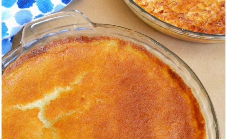 Sweet Buttery Crusted Custard Mochi