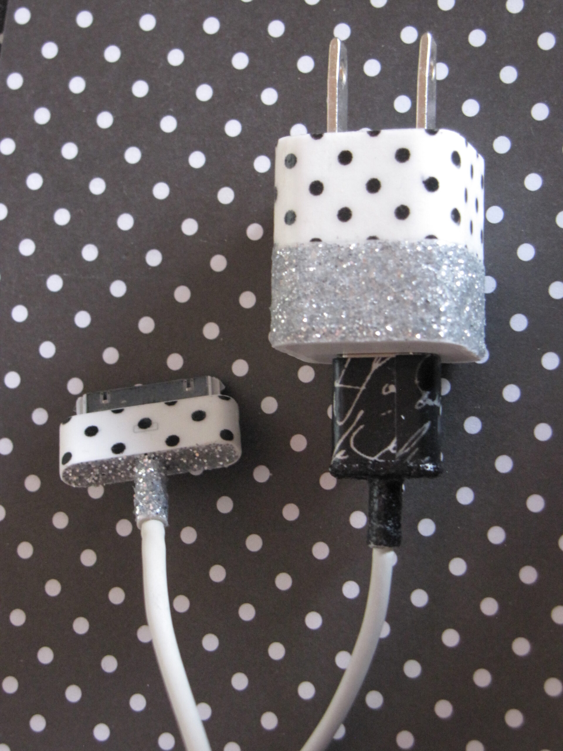 Glitter and Washi Tape Phone Charger