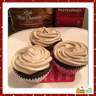 Hot Chocolate Cupcakes with Cream Filling