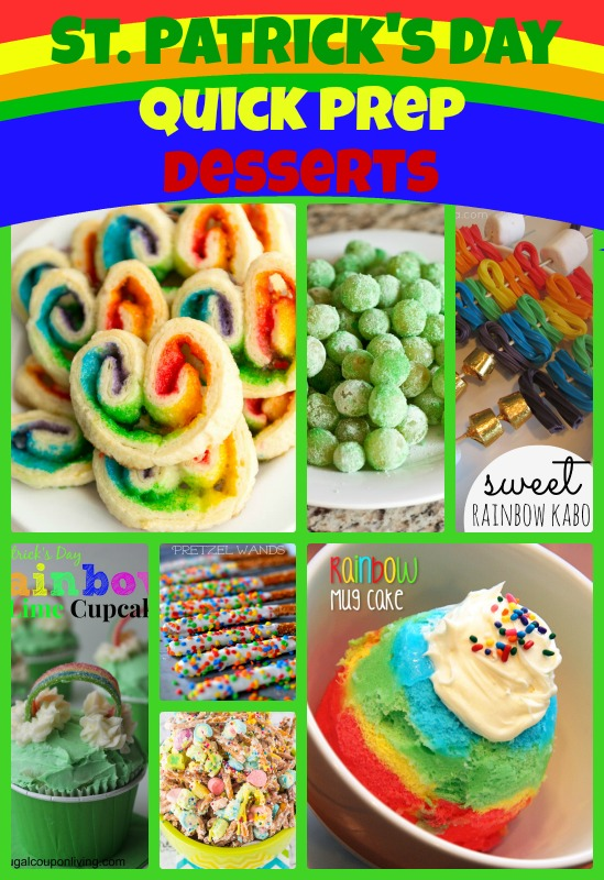 St. Patrick's Day Quick Prep Desserts Roundup