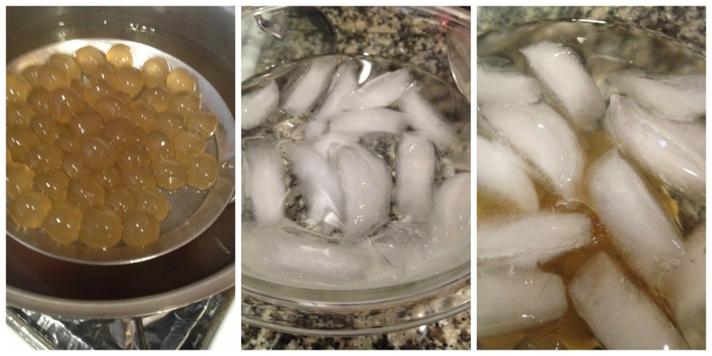 tapioca balls in ice